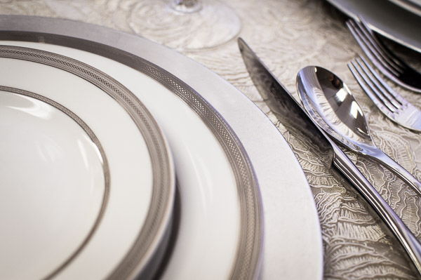 Close-up China and Flatware