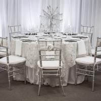 Elegant Tablescape With Whites and Silvers