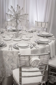 Rose Sash on Silver Chiavari Chair