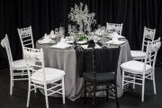Elegant Black and White Tablescape