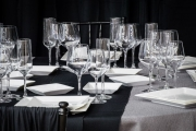 Table-level Glassware and Square Plates