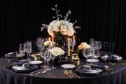 Close up New Year's Tablescape