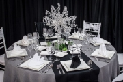 Overview of Black and White Tablescape