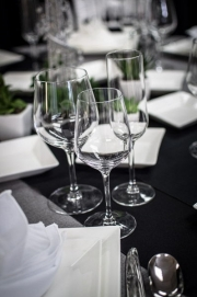 Close-up of Elegant Glassware Rental