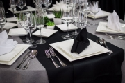 Table Setting in Front of Black Chair