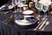 Extravagant New Year's Table Setting