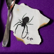 Closeup of a Spooky Halloween Placecard