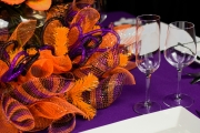 Details in the Halloween Themed Centerpiece in this Tablescape