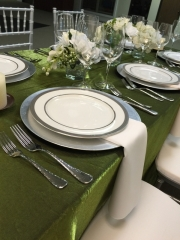 Silver Rimmed China Rental