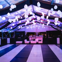 Nice Lighting and Modern Styling at a Black and White Gala