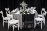 Elegant Black and White Tablescape