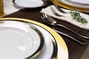Close-up of China Details and Flatware