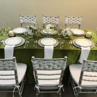 Green Crush Linen Rental