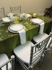 Silver Chiavari Chairs and China Rental
