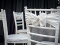 White Chiavari Chairs with White Sashes and Bows