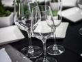 Close-up of Elegant Glassware Rental