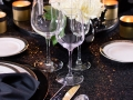 Rental Glassware for New Year's Tablescape