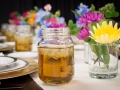 View of Farm Glass and Centerpieces