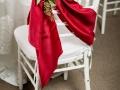 Red Sash on White Chiavari Chair