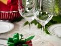 Rental Glassware Christmas Tablescape