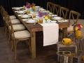 Rustic Farm Table Tablescape with Rustic Decor
