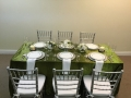 Green Crush Linen Rental Table