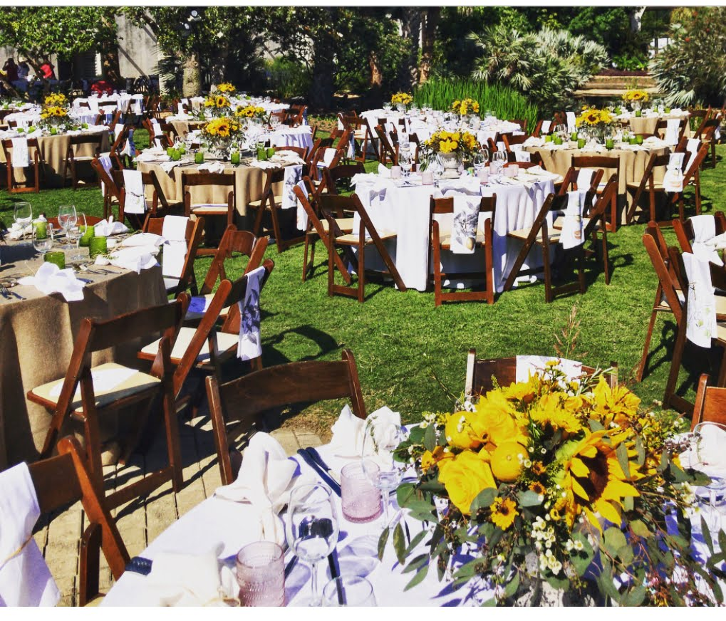 San Antonio Botanical Gardens Gala 2018 Outdoor Rental Furniture