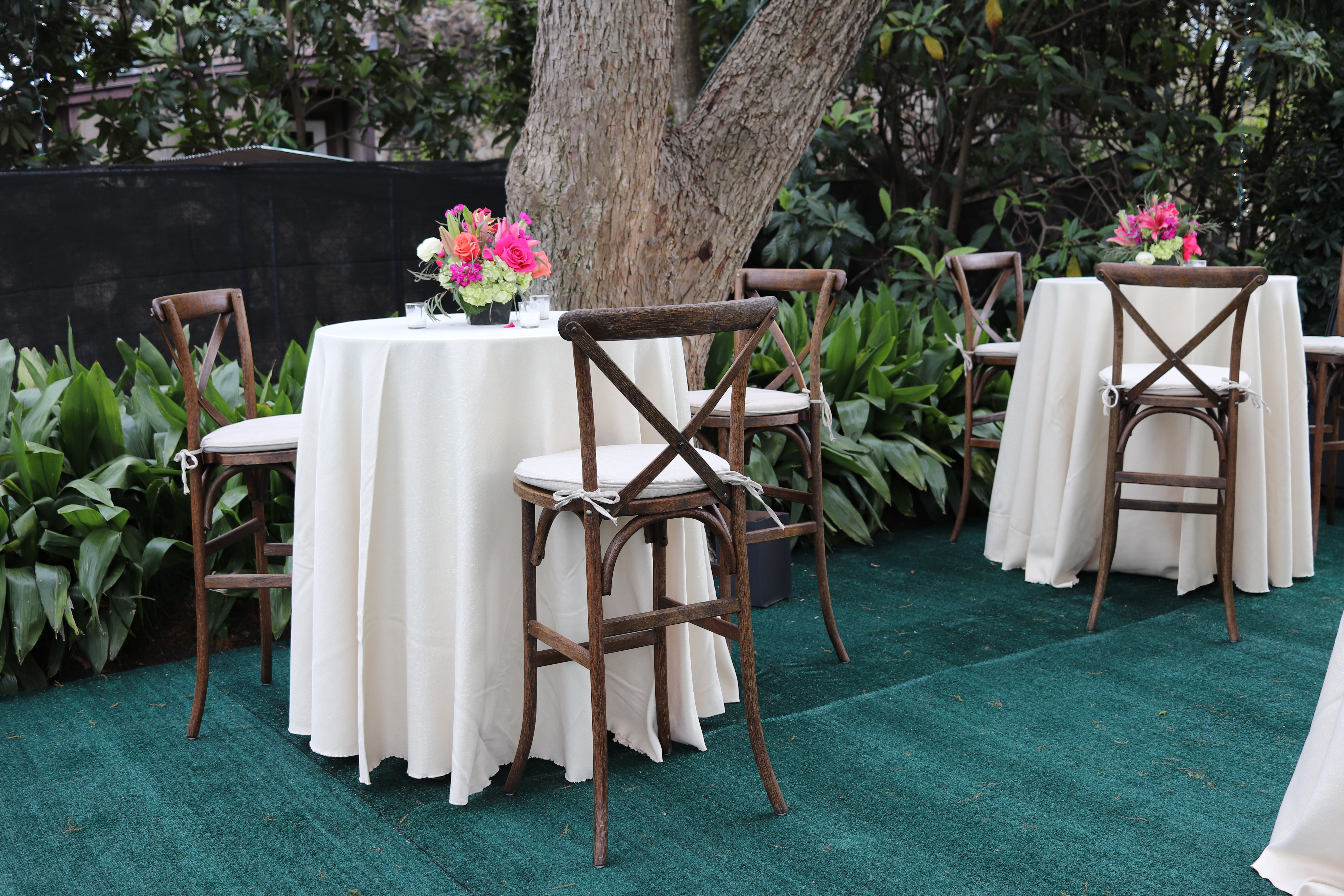 Reception-Dining-Tables-in-Linen-Draping-at-Sweet-August-San-Antonio-Backyard-Wedding