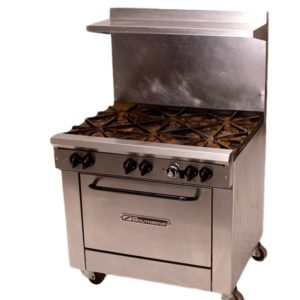 6 Burner Propane Range with Oven Rental