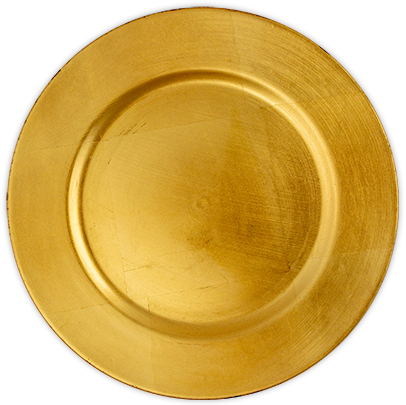 Acrylic Gold Charger