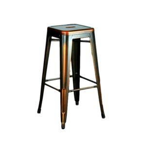 Distressed Copper Barstool Rental