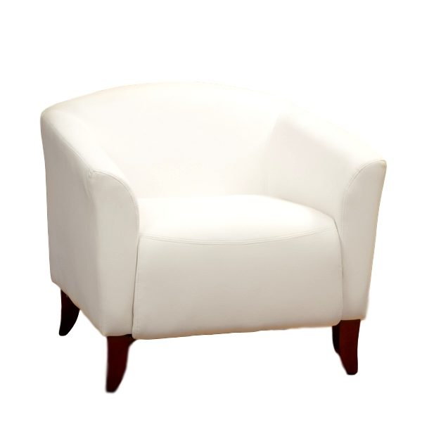 Imperial Chair White Leather Rental