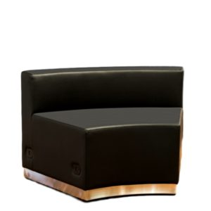 Modular Chair Curved Black Leather Rental