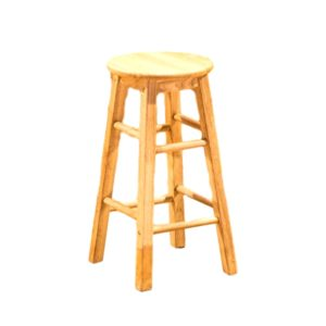 Natural Wood Barstool Rental