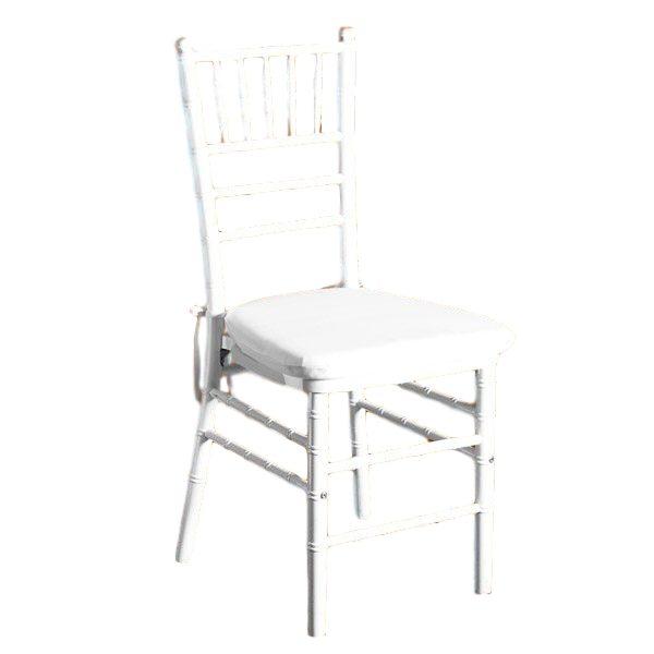 White Chiavari Chair With Pad Rental