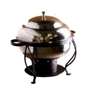 Chafing Dish Hammered 6 qt Rental