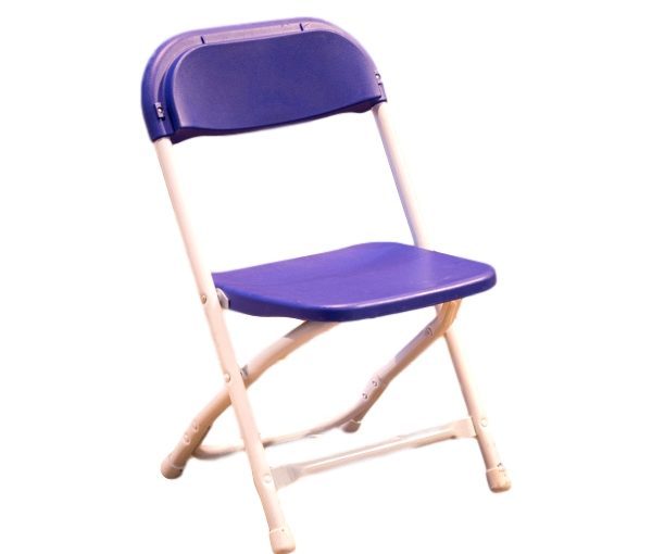 Kids Blue Folding Chair Rental Peerless Events And Tents