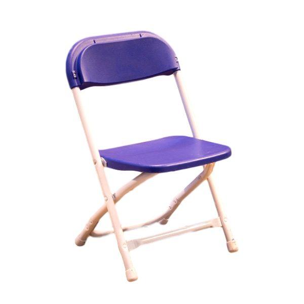 Kids Blue Folding Chair Rental