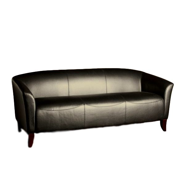 Imperial Sofa Black Leather Rental
