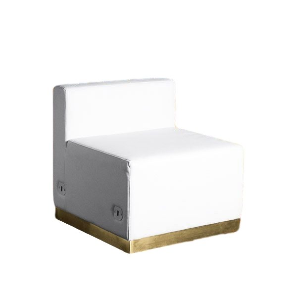 Modular Chair White Leather Rental