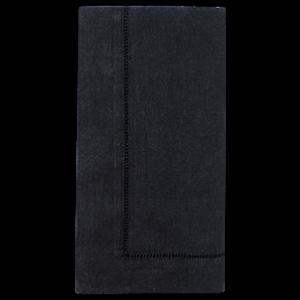 Napkin Black Hemstitch