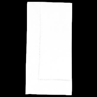Napkin Hemstitch White
