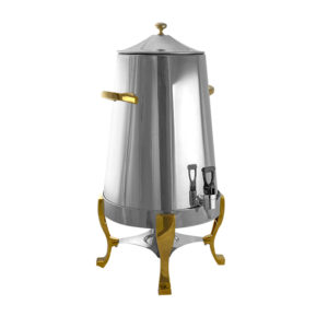 Polished Chrome & Gold Coffee Urn 100 Cup