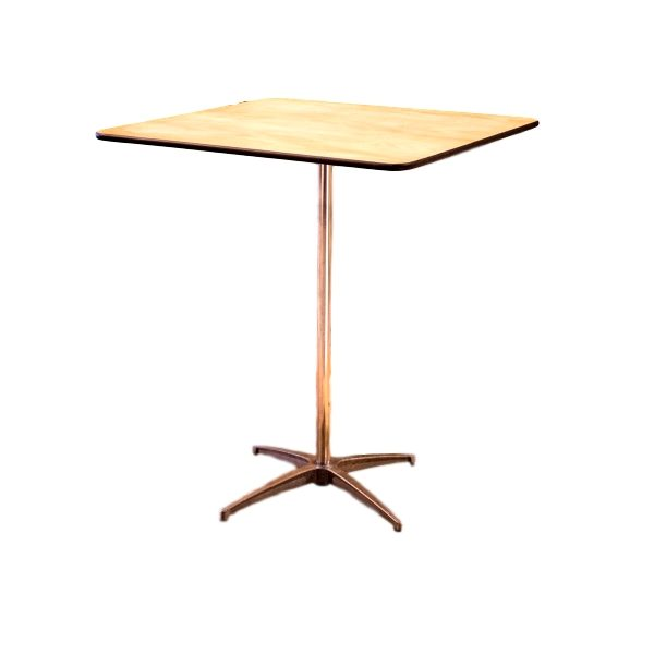 36″X36″ Square Cocktail Table Rental