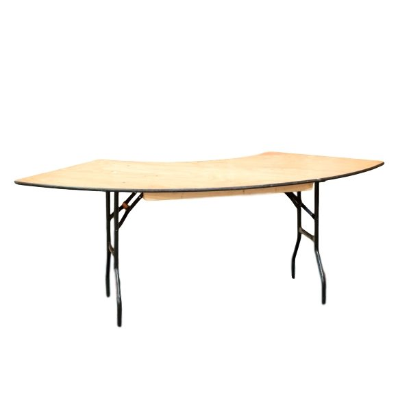6′ Serpentine Table Rental