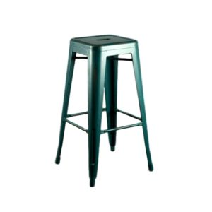 Distressed Blue Barstool Rental