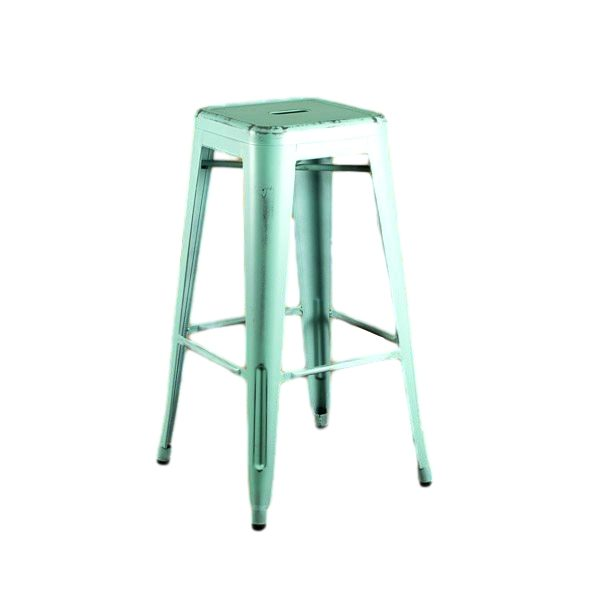 Distressed Dream Blue Barstool Rental