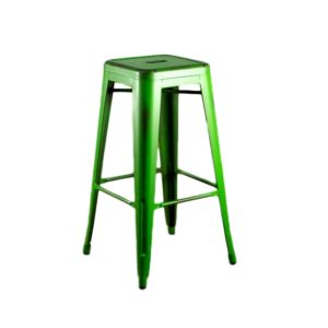 Distressed Green Barstool Rental