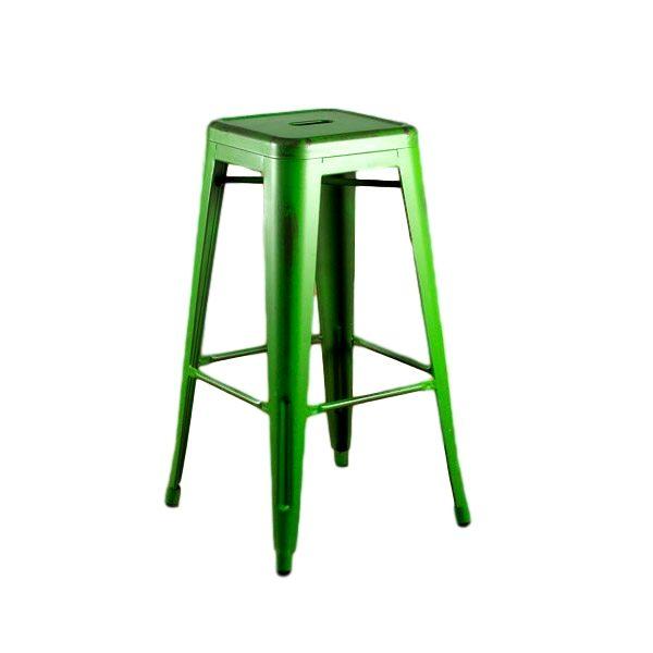 Distressed Green Barstool Rental