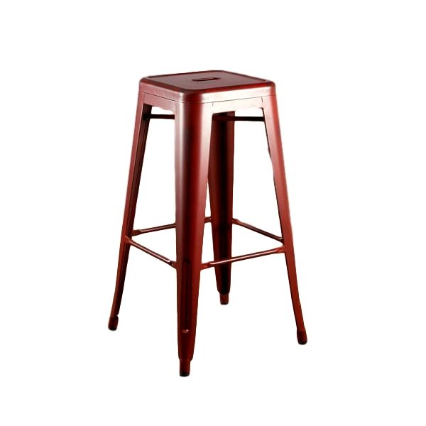 Distressed Red Barstool Rental